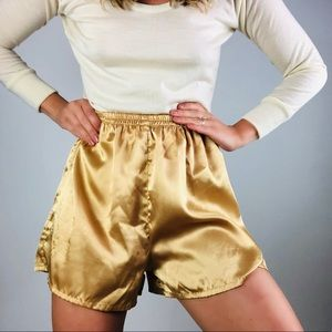 [vintage] Champagne High Waisted High Rise Shorts